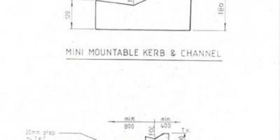 Mini-mountable Kerb & Channel. Please contact office@ikc.co.nz for a .pdf of this profile