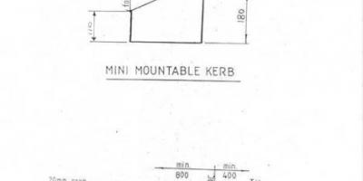 Mini-mountable Kerb. Please contact office@ikc.co.nz for a .pdf of this profile
