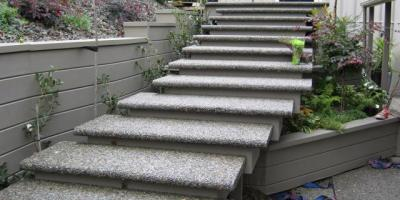 Exposed Aggregate Bull-nosed Steps