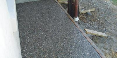 Exposed aggregate path.