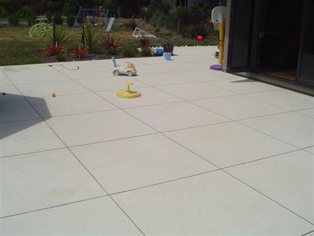 Awesome Patio Cut Into Large Squares
